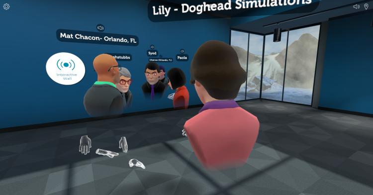 rumii VR Meetup Doghead Simulations